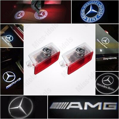 Projector Door CREE LED Courtesy Light Puddle Ghost Laser LOGO For Mercedes Benz