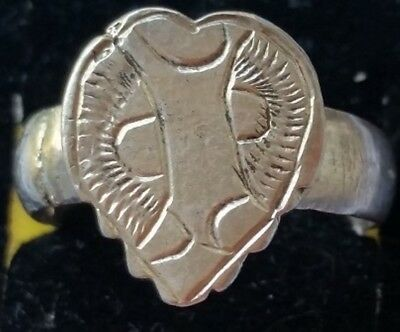 Authentic Ancient Byzantine Medieval Silver Ring