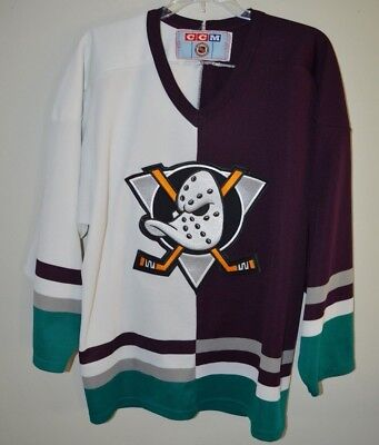 ... rare vintage 90s ccm nhl anaheim mighty ducks two tone jersey mens m  disney 0644b2eed
