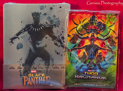 Black Panther 3D + Blu-ray Limited Edition Steelbook Import + Bonus Art Cards