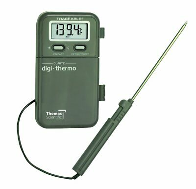 "Thomas Digital Thermometer, with 1/2"" 4 Digit LCD Display, 7-1/4"" Probe Length,"