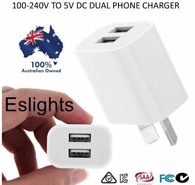 100-240V 5V 2A Dual Usb  Phone Travel Ac Wall Home Charger Power Adaptor Plug