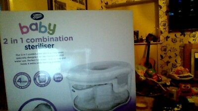 boots baby 2 in 1 combination steraliser
