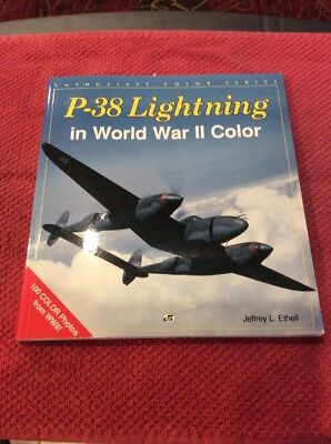 P-38 Lightning In World War Ii Color Book By Jeffrey Ethell Euc 2-3