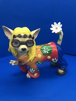 Aye Chihuahua (Hippie) Resin Figurine By Westland Giftware