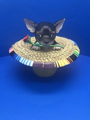 "New Aye Chihuahua ""Sombrero"" Resin Figurine By Westland No.13388- No Box"