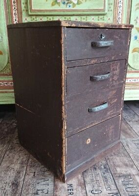 SMALL SET OF ANTIQUE specimen DRAWERS apothecary haberdashery miniature engineer