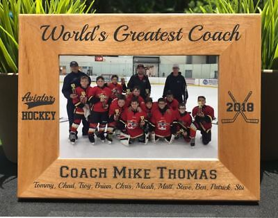 Personalized Engraved // Hockey Coach // Picture Frame
