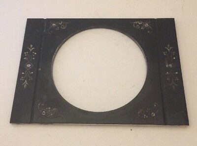 Solid Marble Dial Face Plate From Antique Mantel Clock
