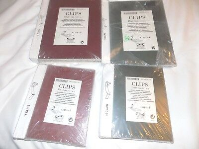 LOT OF (4) Packages Brand New Ikea Clips Frameless Glass Picture ...