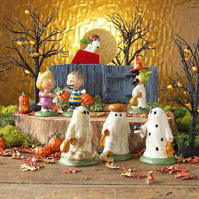 New Dept 56 Peanuts  7 Pc The Great Pumpkin Is Coming Halloween Charlie Brown