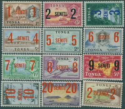 Tonga 1968 SG228-239 Surcharges set of 12 MLH