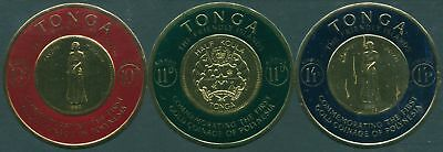 Tonga 1963 SG135-137 Polynesian Gold Coinage Airmail Stamps set of 3 MNH