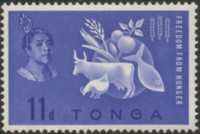 Tonga 1963 SG128 Freedom From Hunger MLH