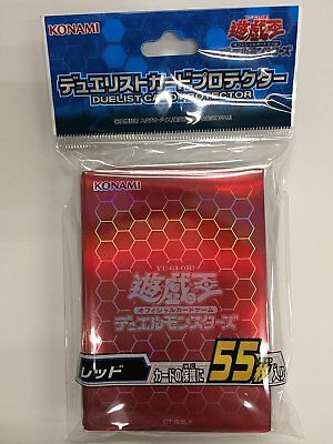 """Yu-Gi-Oh Duelist Card Protector """"Red pack"""" Sleeve 55 sheets Japan"""