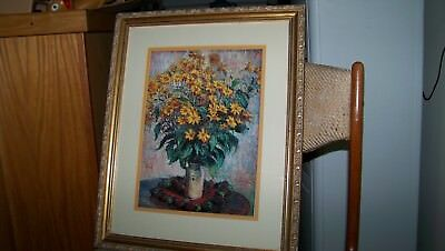 CLAUDE MONET FRENCH JERUSALEM ARTICHOKE FLOWERS OLD ART PAINTING POSTER BB5134B