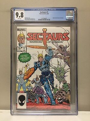 Sectaurs #1 Cgc 9.8 Nm! High Grade! White Pages! Marvel Comics