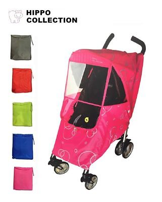 RED Hippo Universal Baby Stroller Weather Shield Waterproof Wind Rain Cover NEW