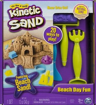 🚛Fast Shipping! Kinetic Sand Beach Day Fun Playset With Molds And Tools