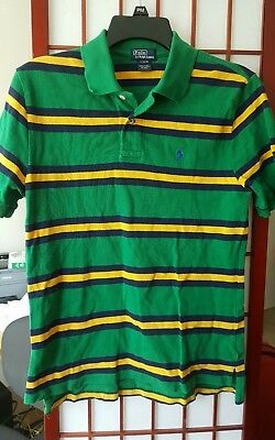 Boys Red Striped POLO RALPH LAUREN Shirt Size Large 14-16