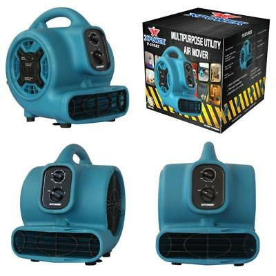 Xpower P-230At 1/5 Hp 800 Cfm 3 Speeds Mini Air Mover With 3-Hour Timer And