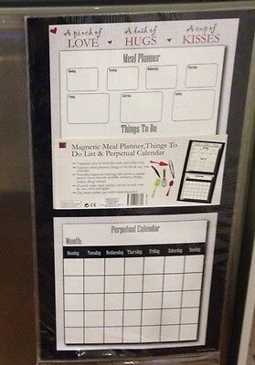 Weekly Daily Schedule Meal Planner, Things To Do Calendar Magnetic Fridge