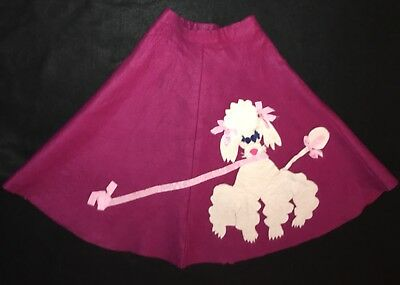 Vtg 50s Girls Poodle Skirt Circle Rockabilly Pageant Costume