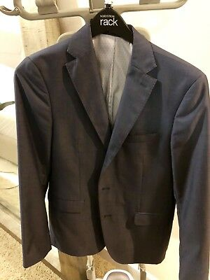 Zara Blue Two Button Suit Blazer 38R Slim Fit