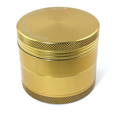 Tobacco Herb Spice Grinder 4piece Herbal Alloy Smoke Metal Chromium Crusher Gold
