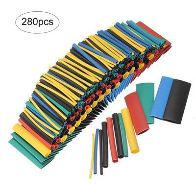 280pcs Heat Shrink Tubing for Electric Cables Multi Color with Box