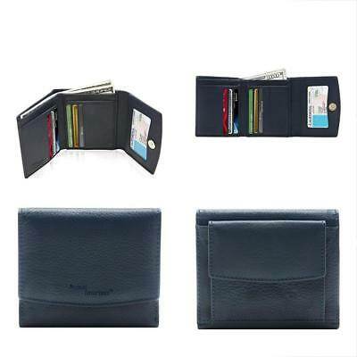 Small Trifold Wallets For Women RFID Blocking - Genuine Leather Credit Card With