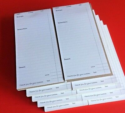 RESTAURANT CAFE WAITER FOOD Order / Receipt PADS x 10 PADS ~ FROM £3.99