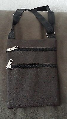 Unisex Cross Body Over Shoulder Holliday Travel Side Adjustable Brown Bag
