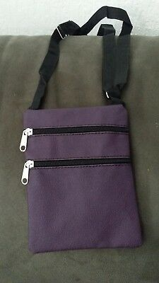 Unisex Cross Body Over Shoulder Holliday Travel Side Adjustable Purple Bag
