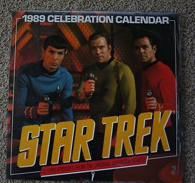 Calendar Star Trek Celebration 1989 NEW sealed unopened