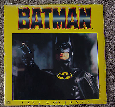 Calendar 1990 Batman NEW Sealed Unopened
