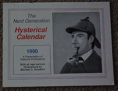 Calendar  Star Trek Next Generation Hysterical 1990 New Unused