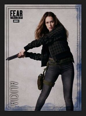 Alicia-Fear Action-Blue-Wave 3-Topps Walking Dead Card Trader Digital
