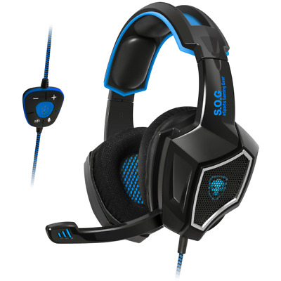 Casque Gamer Xpert 7.1 Surround Rétro-Éclairage Micro Gaming Multimédia Pc Neuf