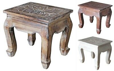 Stool Plant Stand Wooden Small Table 3 Various Colours Handmade