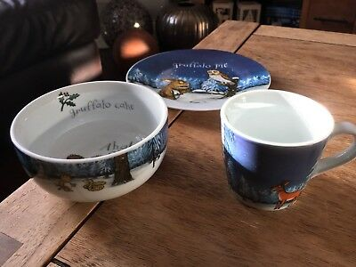 Gruffalo ceramic plate and bowl and cup & WILD AND Wolf The Gruffalo Milk And Biscuit Set 2009 Cup u0026 Saucer ...