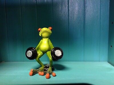 Frog Lifting Weights / Weight Lifter Frog. Nib