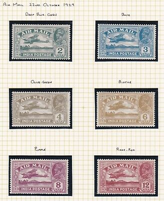 Commonwealth. India  THREE PAGES. 1929-35 Air and Commemorative Issues Mint.