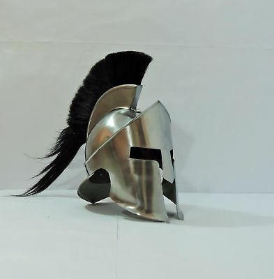 Ancient Sparta Helmet 300 movie Greek Spartan Helmet King Leonidas Shiny Helmet