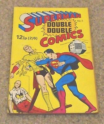 1971 SUPERMAN # 3 Double Double comic 1960s Reprint comics Excellent condition