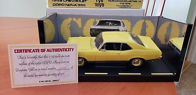 1/18 Ty's Toys 1968 Yellow Nova Copo 396 1/750 Le Muscle Car Collection #2 Gmp