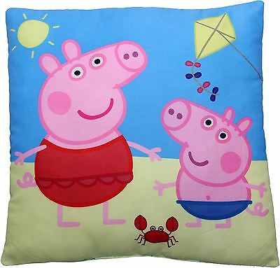 Peppa Pig and George Go Fly a Kite Childrens Filled Cushion Pillow By BestTrend