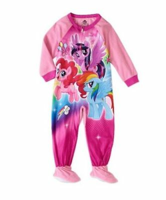 NWT Girls Size 4T My Little Pony Blanket Sleeper Footed Pajamas NEW