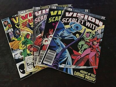Vision and the Scarlet Witch Vol.1 # 1 - 4 (Ltd Series) + Vol.2 # 1 ALL VF!