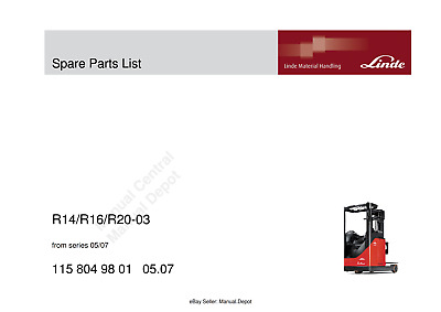 Linde R14 R16 R20-3 Spare Parts Manual From Series 05/07 Pdf Email
